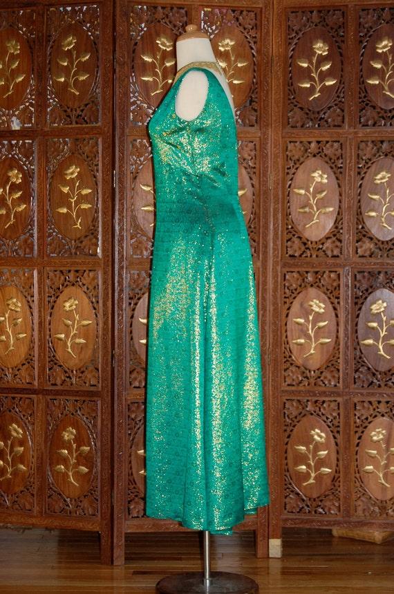 ON SALE Vintage 1960S Estevez Emerald Green & Met… - image 3