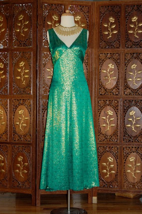 ON SALE Vintage 1960S Estevez Emerald Green & Met… - image 2