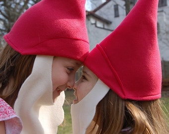 Fleece Gnome Hat with Removable Beard Costume
