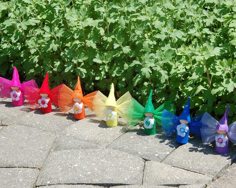Flower Fairy Dolls Set of 7 image 0