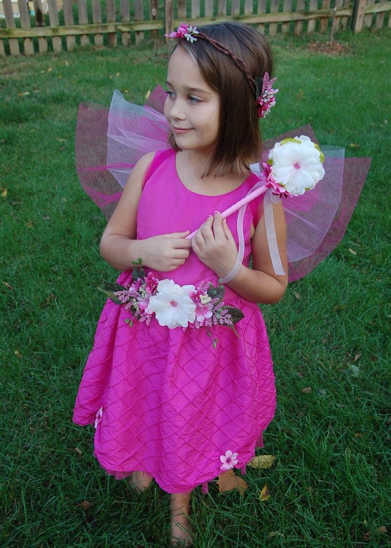 Pink Flower Fairy Costume image 0