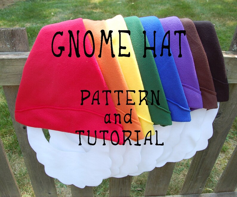 Gnome Hat PATTERN and TUTORIAL image 0