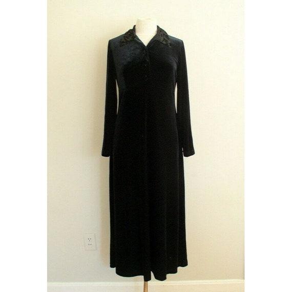 Vintage 90s Grunge Velvet Dress / Smith & Hawken … - image 2