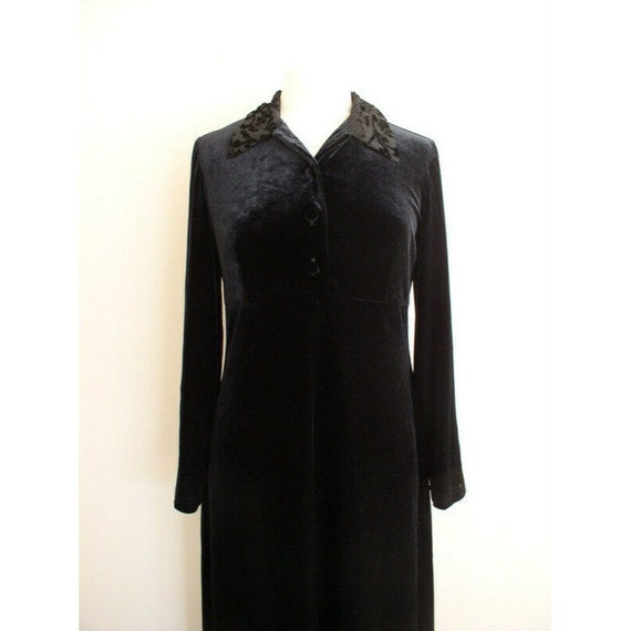 Vintage 90s Grunge Velvet Dress / Smith & Hawken … - image 3