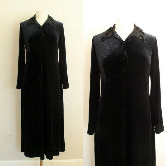 Vintage 90s Grunge Velvet Dress / Smith & Hawken … - image 1