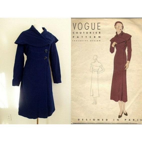 Vintage 1930s Vogue Couturier Princess Coat / 30's