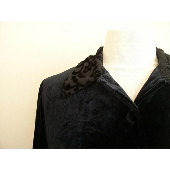 Vintage 90s Grunge Velvet Dress / Smith & Hawken … - image 6