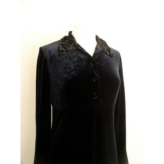 Vintage 90s Grunge Velvet Dress / Smith & Hawken … - image 8