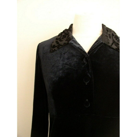 Vintage 90s Grunge Velvet Dress / Smith & Hawken … - image 5