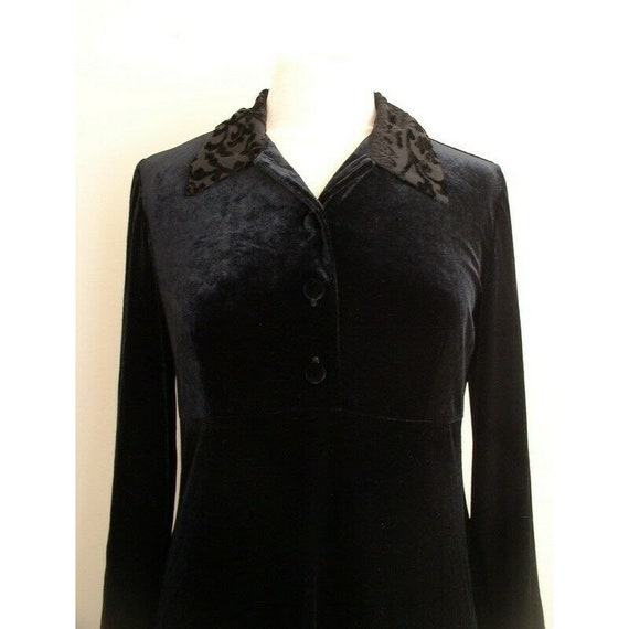 Vintage 90s Grunge Velvet Dress / Smith & Hawken … - image 4