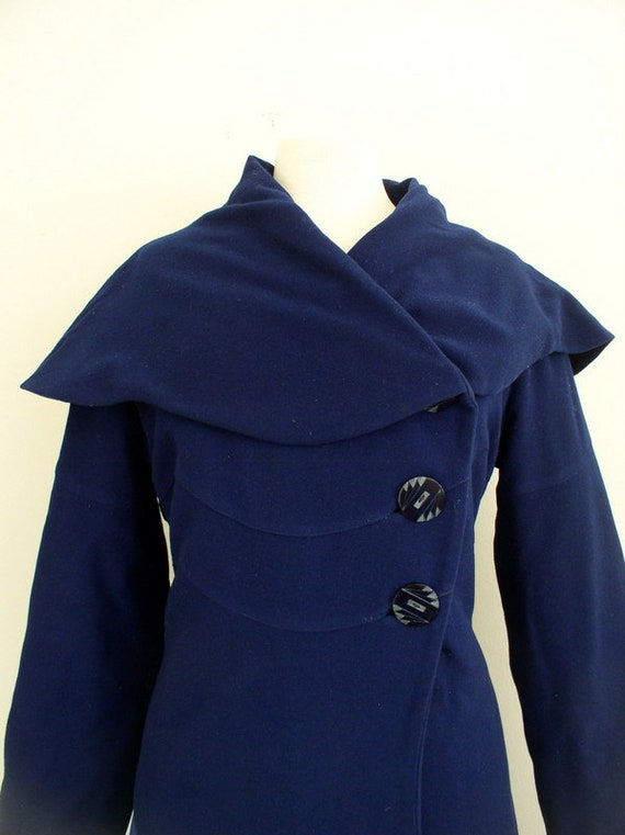 Vintage 1930s Vogue Couturier Princess Coat / 30'… - image 3