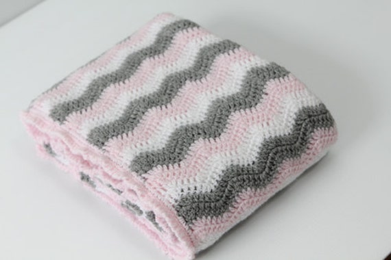 Instant Download Pattern Crochet Sherbet Ripple Baby Blanket Etsy