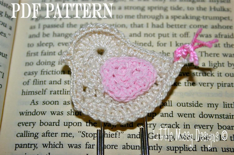 Crochet Bird Patterncrochet Bird Motif Patterncrochet Bird Etsy
