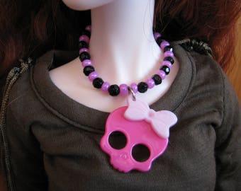 BJD SD 1/3 Doll Kawaii Halloween Rock Skull Necklace