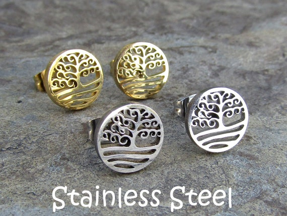 Stainless Steel or Sterling Silver 925 Personalized Cufflinks Tree of Life Hope and Love Birthday or Groom Wedding Gift for Him