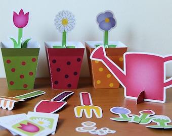 Printable gardening set - PDF paper craft