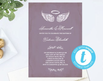 Shimmer angel wing invitation | wedding & special event.