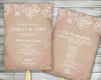 diy wedding program editable ms word template floral etsy