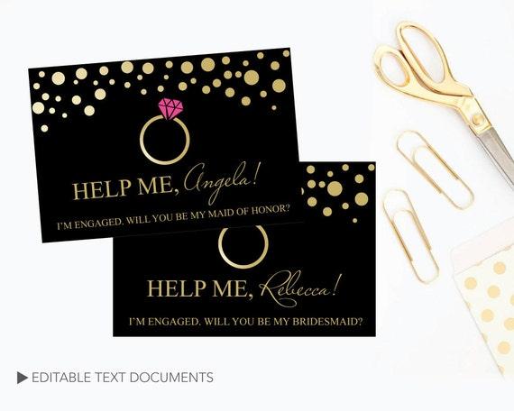 Diy Funny Bridesmaid Proposal Card Bridesmaid Proposal Card Etsy