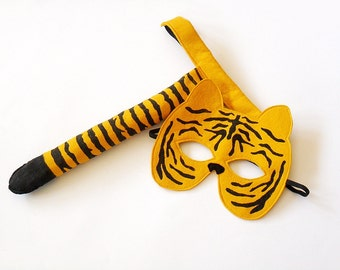Tiger Costume Kids Costume Tiger Mask and Tail Kids Halloween Costume Tiger Toddlers Costume for Boys Carnival Costume For Girls
