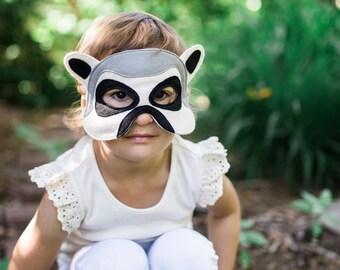 Lemur Mask, Kids Mask, Animal Mask, Halloween Mask,  Costume Accessory, Photo Props, Felt Mask, Madagascar Themed Mask