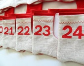 Advent Calendar with Christmas Stockings, Christmas Decoration, Christmas Garland, Children, Kids, Christmas Holiday, Nursery Decoration