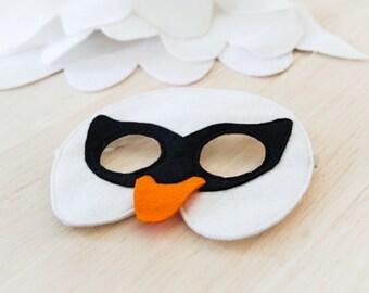 White Swan Mask Kids Mask Kids Swan Costume Accessory, Felt Bird Mask Halloween Kids Carnival Mask for Girls Dress up Mask for Boys
