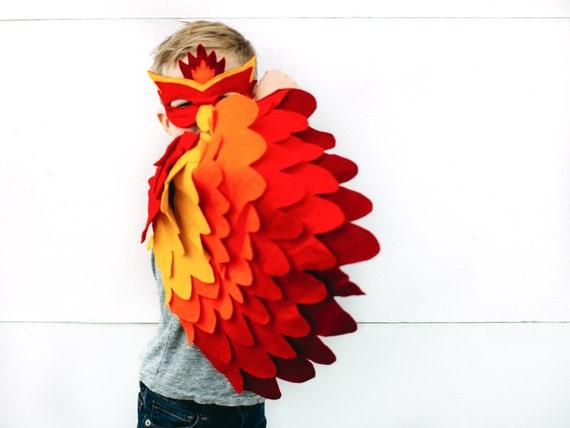 sc 1 st  Etsy & Childrens Fire bird Costume Phoenix Costume Bird Wings and