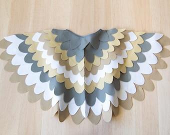 Kids Costume Wings, Bird Wing Cape, Owl, Sparrow, Hawk Wings