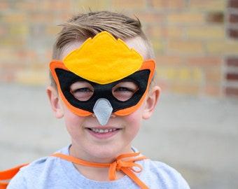 Bird Mask, Kids Mask, Felt Bird Mask, Bird Costume Accessory Halloween Mask for Boys Dress up Mask for Girls, Photo Props, Imaginative Play