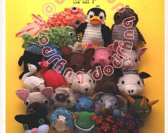 OUT of Print Chinese Edition Japanese Craft Pattern Book Crochet Metal Frame Clasp Animal Pouch Purse Bag