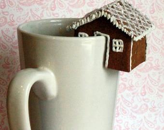 CUSTOM LISTING for Wendy Pearson  - 12 Mini Gingerbread Teacup Houses