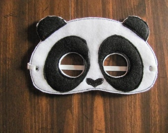 fb1578741fa Panda Bear Party Masks- Panda Bear Photo Prop - Felt Mask - Pretend Play -  Dress Up Mask - Panda Bear Gift - Panda Bear Party Favor