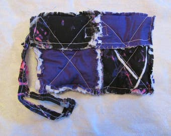 Muddy Girl Camo and Purple inspired Black Camo Clutch bag Camo Cell Phone Case Muddy Girl Camo Wristlet Gift for Girls Gift For Her