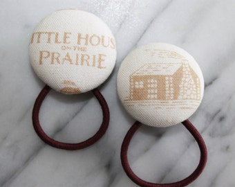 Little House on the Prairie pony tail holders make adorable party favors, gifts, everyday hair accessories