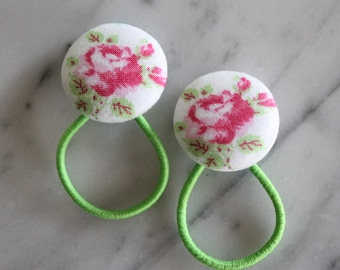 Big Shabby Rose pony tail holders make adorable party favors, gifts, everyday hair accessories