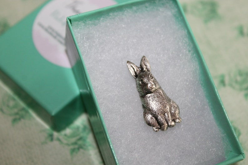 Petite Woodland Bunny Brooch Pin adds a bit of whimsy to any outfit!