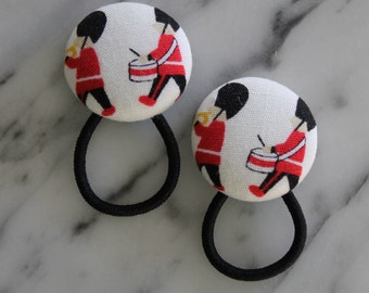 British Marching Soldiers pony tail holders make adorable party favors, gifts, everyday hair accessories