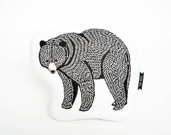 Bear plush, bear pillow, animal pillows, bear cushion, animal cushion, plush animals, animal pillow, accent pillow, decorative pillow