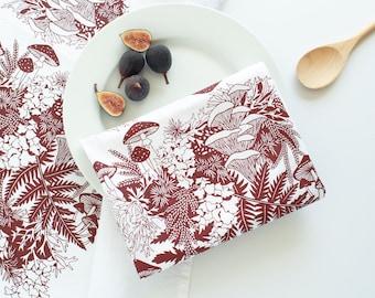 regrow tea towel, moss tea towel, holiday towel, flour sack towel