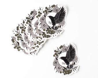 Starling sticker, waterproof sticker, vinyl sticker, bird sticker