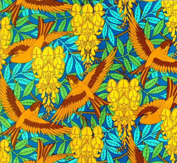 antique french art nouveau wallpaper design birds and wisteria