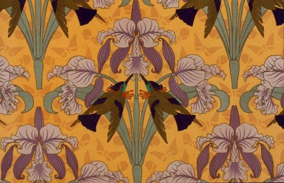 Telechargement Bourdonnement Oiseau Fleurs Art Nouveau Fond Etsy