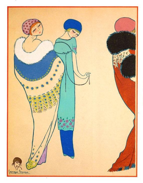 Antique French Art Deco Haute Couture Fashion Designer Paul Etsy