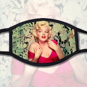 Hollywood Movie Star Marilyn Monroe Caricature Cotton Fabric Block 8 x 10-0811