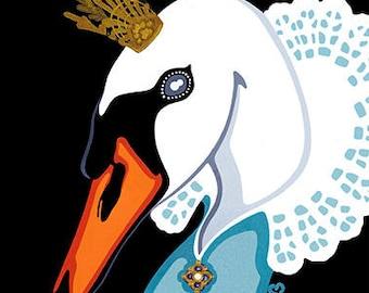 Swan Princess Giclée fine art print