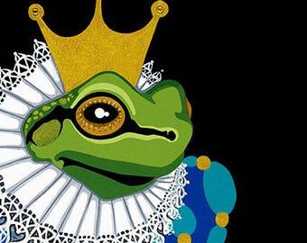 Frog Prince Giclée fine art print