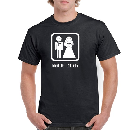 Items Similar To Mens GAME OVER T Shirt Funny Wedding