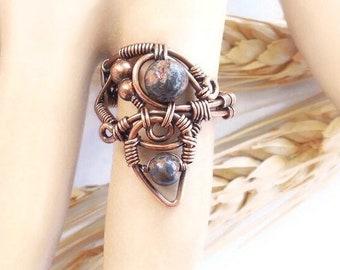 Jasper Ring size 8, earthy ring, bohemian rings, boho statement ring