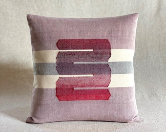 Chromatin Loops / Red - Handwoven Cushion Cover